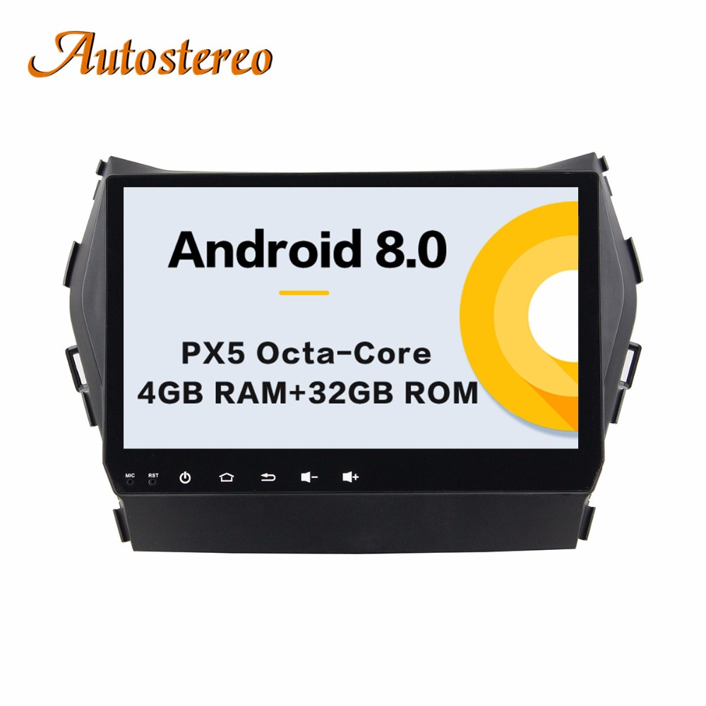 Autostereo Android 8 4+32G Car DVD Player GPS navigation For Hyundai IX45 Santa fe head unit multimedia player tape recorder lsqstar 7 android4 1 capacitive screen car dvd player w gps wifi swc aux for hyundai ix45 santa fe