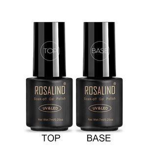 Image 2 - ROSALIND топ и база для ногтей каучуковая база праймер для ногтей  для ногтей и база 7 мл все для маникюра гель лак для ногтей