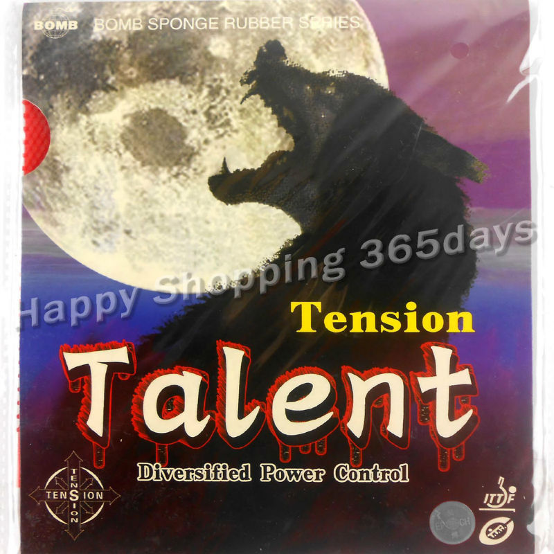 Bomb Talent Tension Standard Long Pips-out Table Tennis  Pingpong Rubber With Sponge Thickness