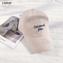 USPOP 2019 New unisex soft baseball caps women men casual letter cap adjustable visor sun hats