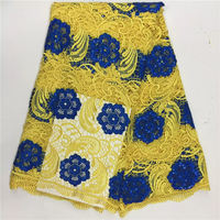 Free Shipping High Quality Guipure Lace Nigerian Lace Fabrics Water Soluble African Lace Fabric For Wedding