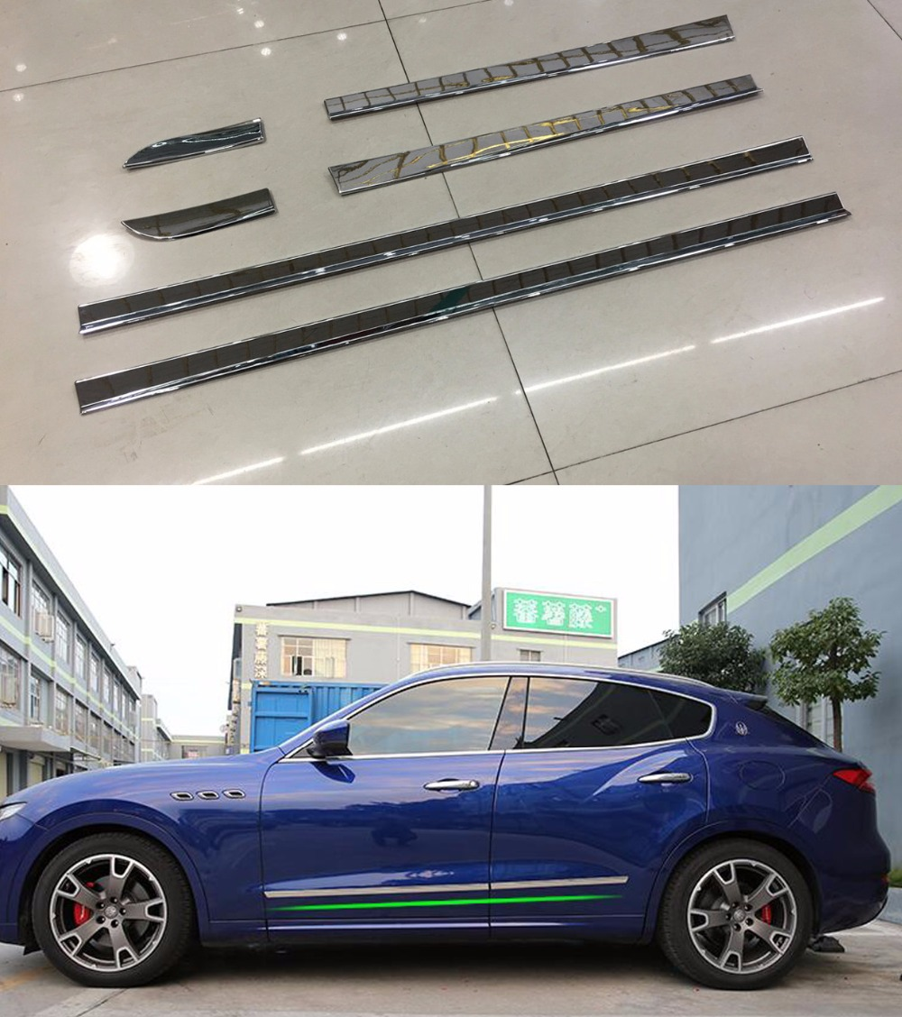 TTCR-II Car Styling For Maserati Levante Accessories Anti-collision Strip Crash Bumper Protector Door Guard Rubbing Trim Strip ball style pvc anti collision angle guard for kids translucent white
