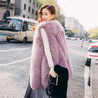 Fur coat women's new fox fur imitation fur vest coat women's casual vest fur