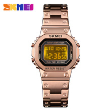 SKMEI Luxury Brand Bracelet Women Wristwatch Fashion Multi-function Lady Quartz Watch 3Bar Waterproof Luminous Chronograph