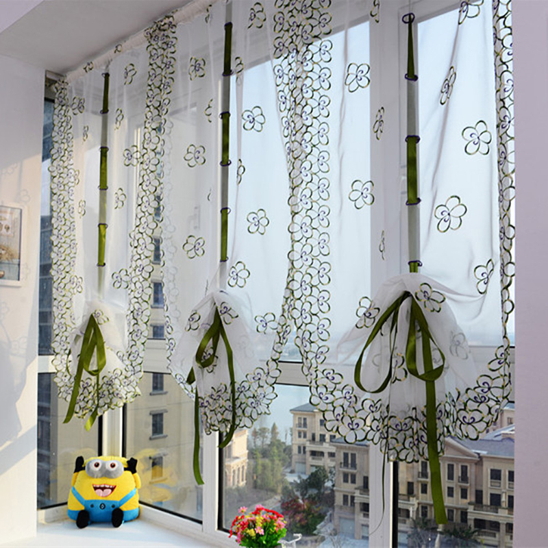 coppia tendine campanellino lilla 50x235 cm. tende a vetro ...