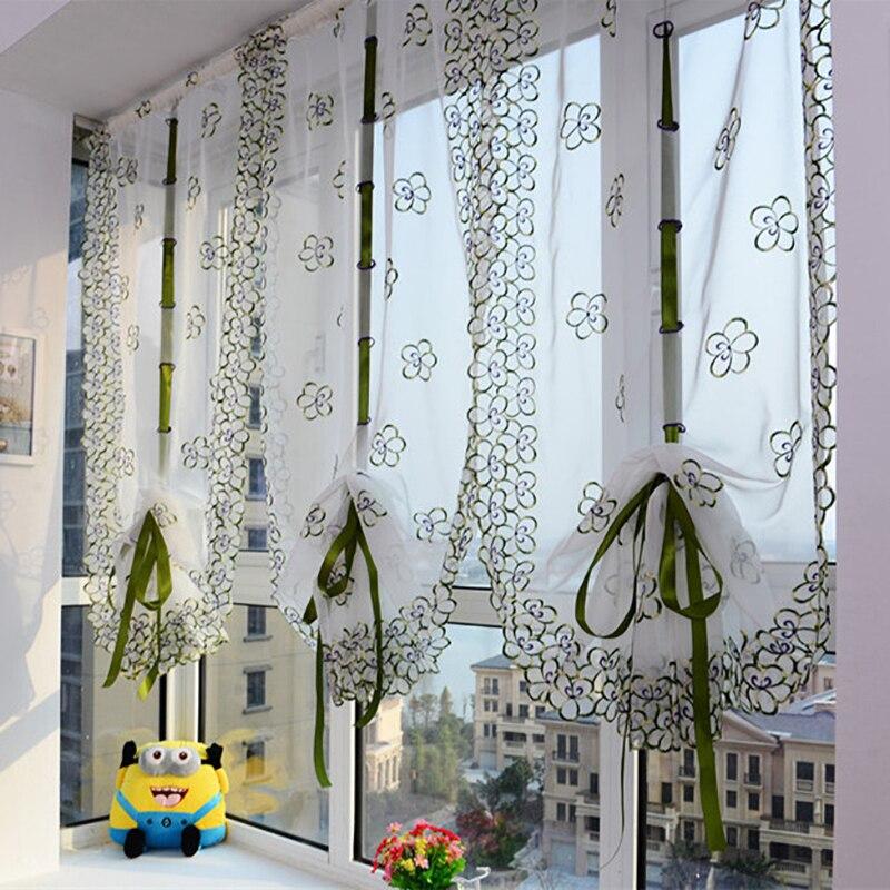 US $9.79 30% OFF|Vorhänge Für Wohnzimmer Drucken Stickerei Römischen  Vorhang Voile Gardinen Für Badezimmer Küche Balkon Jalousien Wohnzimmer 1  ...