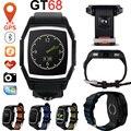 Deportes smart watch gt68 impermeable bluetooth del teléfono smartwatch apoya sim gps pulsómetro relojes de pulsera para android ios