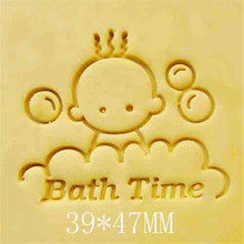 47*39mm Handmade Resin Soap Stamp Baby Time Design Homemade Tools DIY Making Kits