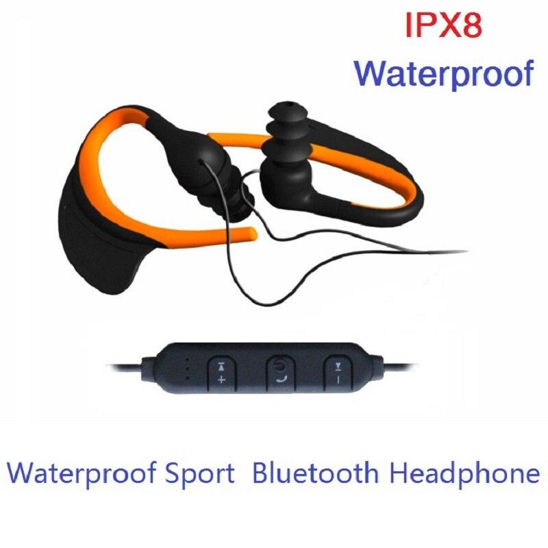 Наушники Bluetooth-Беспроводной наушники с микрофоном HD стерео Шум отмена Водонепроницаемый IPX8 для спорта бег наушники, Дайвинг