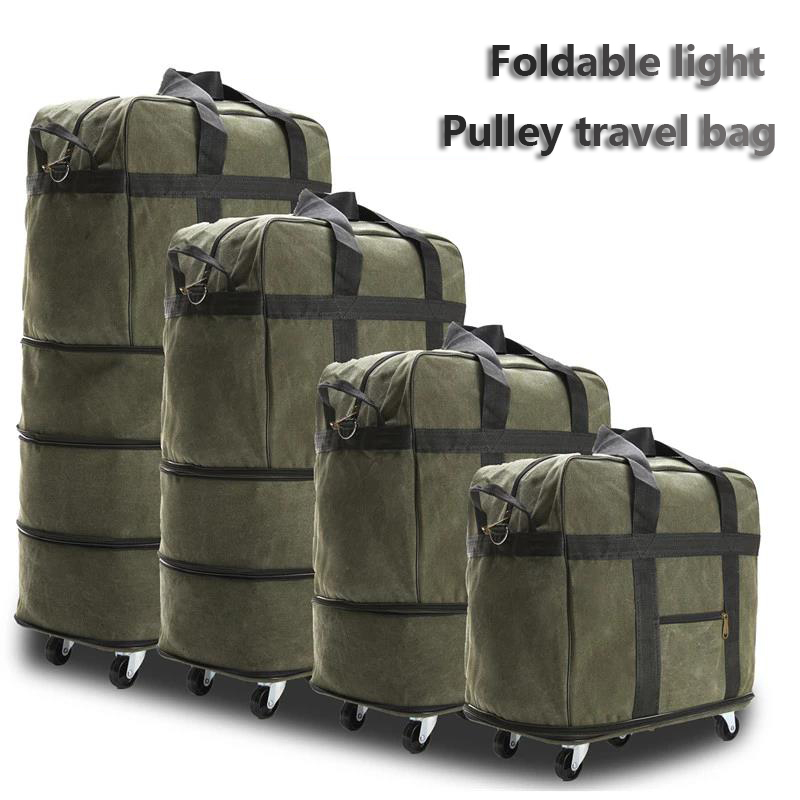 Oxford Cloth Duffle Bag Large Capacity Travel Bag With Wheel Back Pull Bag Dual-use Collapsible Luggage 158 Air Carrier Package