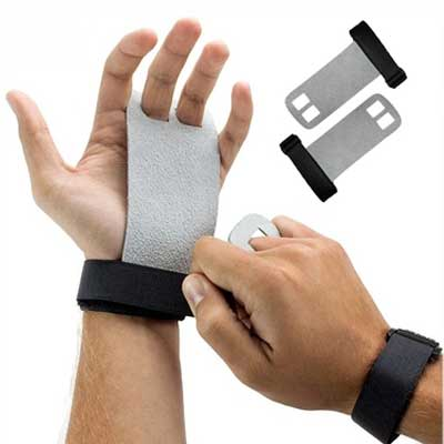 Aolikes 1 Para Handgelenk Unterstützung Griffe Leder Palm Protektoren Hand Guards Gewichtheben Hantel Fitness Griffe Gym Handschuh Pull Up Sport Sicherheit