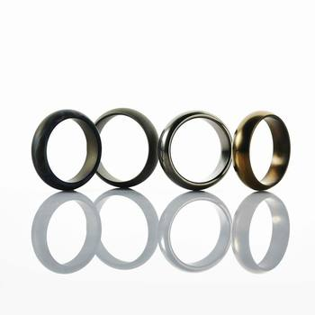 18MM Diameter Men Women Titanium RingTail Ring Jewelry For Party Wedding Bands 4 Colors Polished Surface EDC