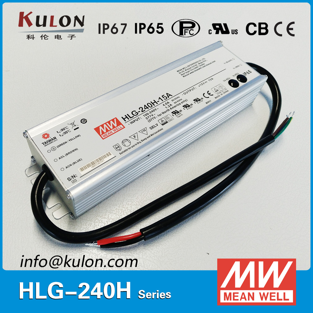 Genuine Meanwell HLG-240H-36B 36V dimmable Power Supply 240W 6.7A IP67 waterproof led driver