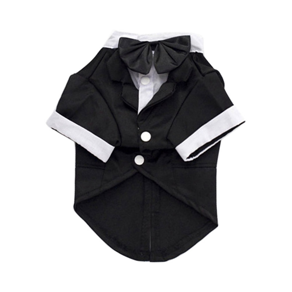 Hot Sale Pet Dog Cat Puppy Clothes Wedding Suit Tuxedo Costume Collared Shirt Clothing