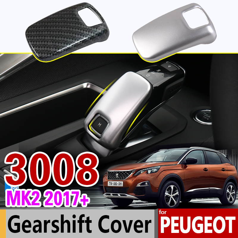 Luxurious Chrome Gearshift Cover for Peugeot 3008 II 2017 2018 2019 MK2 2nd Gen 3008GT GT