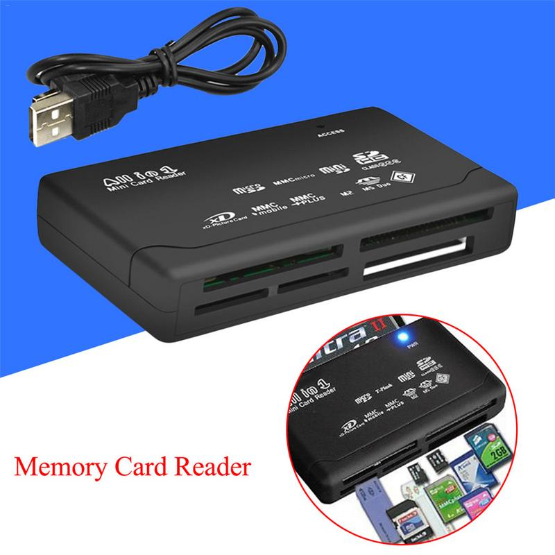 USB 2.0 Adapter Card Reader All In One USB Micro Memory Card Reader Micro SD TF Card Reader For Android Phone PC Laptop Desktop