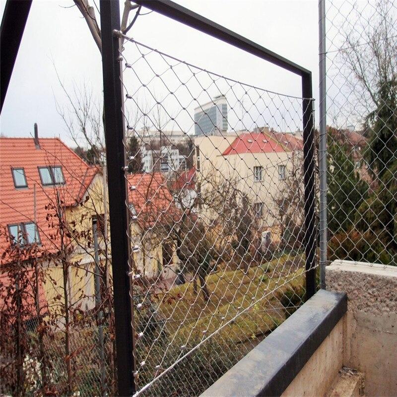 Balustrade und geländer schutz edelstahl drahtseil mesh net in ...