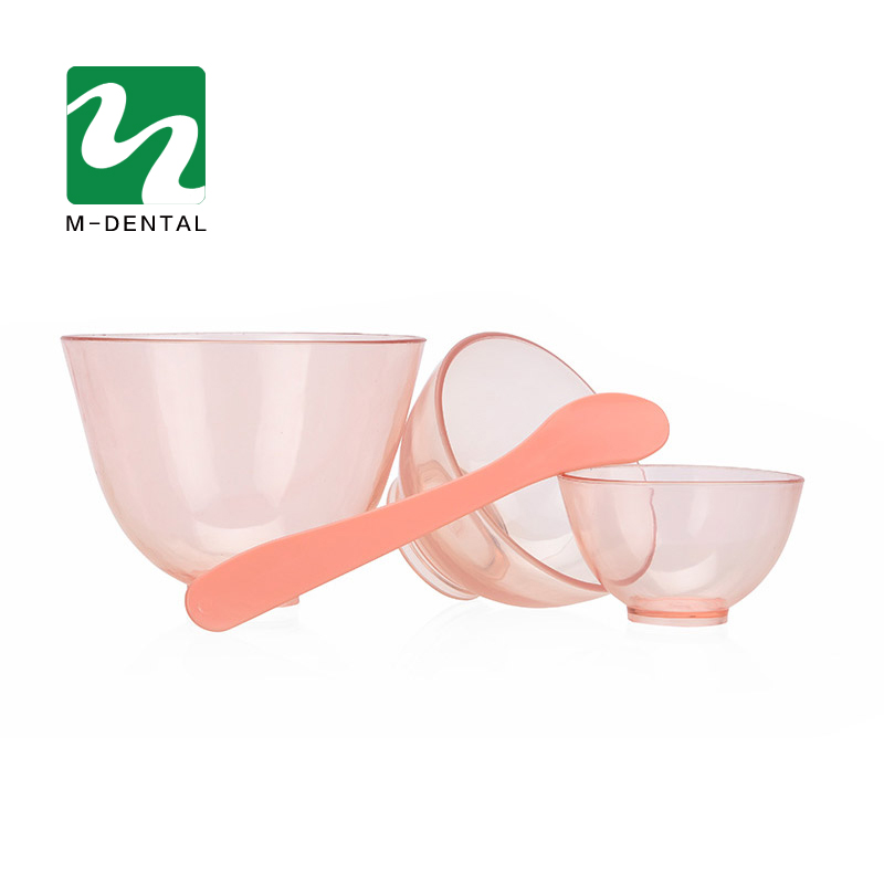 3 PCS Transparent Pink Dental Rubber Mixing Bowl Plastic Lab Silicon Bowl For Oral Hygiene Tool