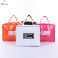RUPUTIN Lunch Storage Bags Cooler Lunch Insulated Fresh Bags For Women Kids Thermal Padded Box High Capacity Food Picnic Tin Bag цена и фото