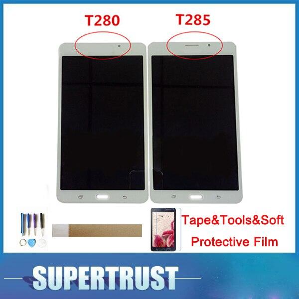 """7,0 """"для Samsung Galaxy Tab A SM-T280 SM-T285 SMT280 SMT285 T280 T285 ЖК-дисплей Дисплей и Сенсорный экран Замена с комплектом"""