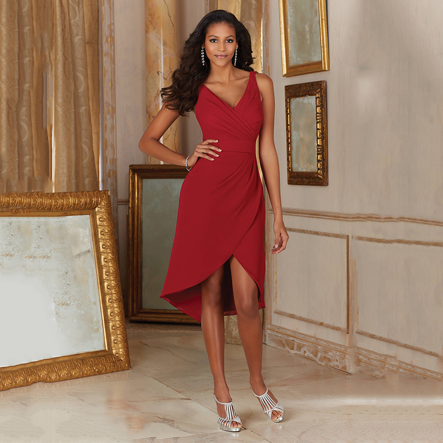 Popular burgundy bridesmaid dresses high low buy cheap burgundy wine red robe de demoiselle dhonneur adulte short african cheap burgundy bridesmaid dresses high ombrellifo Image collections