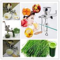 Stainless Steel Manual Wheatgrass Juicer Healthy Wheat Grass Juice Machine Wheat Grass Juicing Extractor ZF