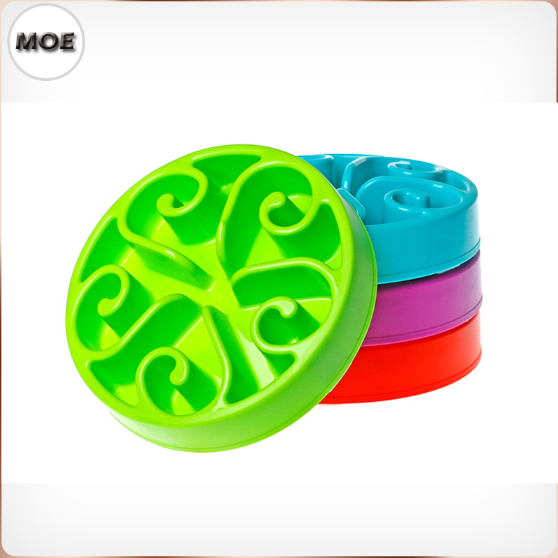 Anti Choking Slow Eating Obesity Prevention Container For Food Big Normal Dog Bowl