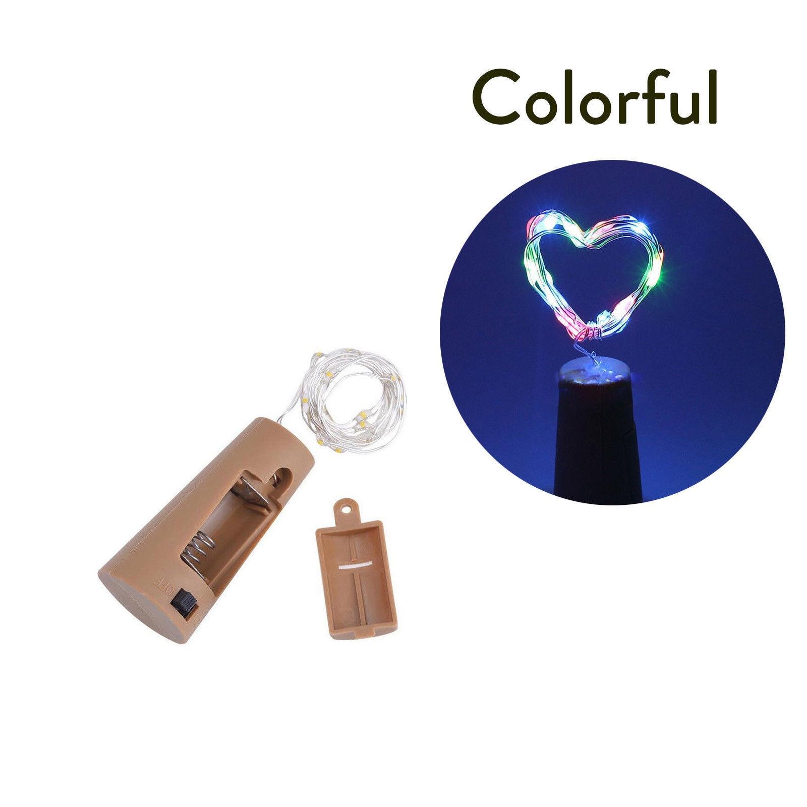 10 20 30 светодиодный s пробковый светодиодный светильник, медная проволока, праздничный уличный Сказочный светильник s для рождественской вечеринки, свадебного украшения - Испускаемый цвет: Multicolor