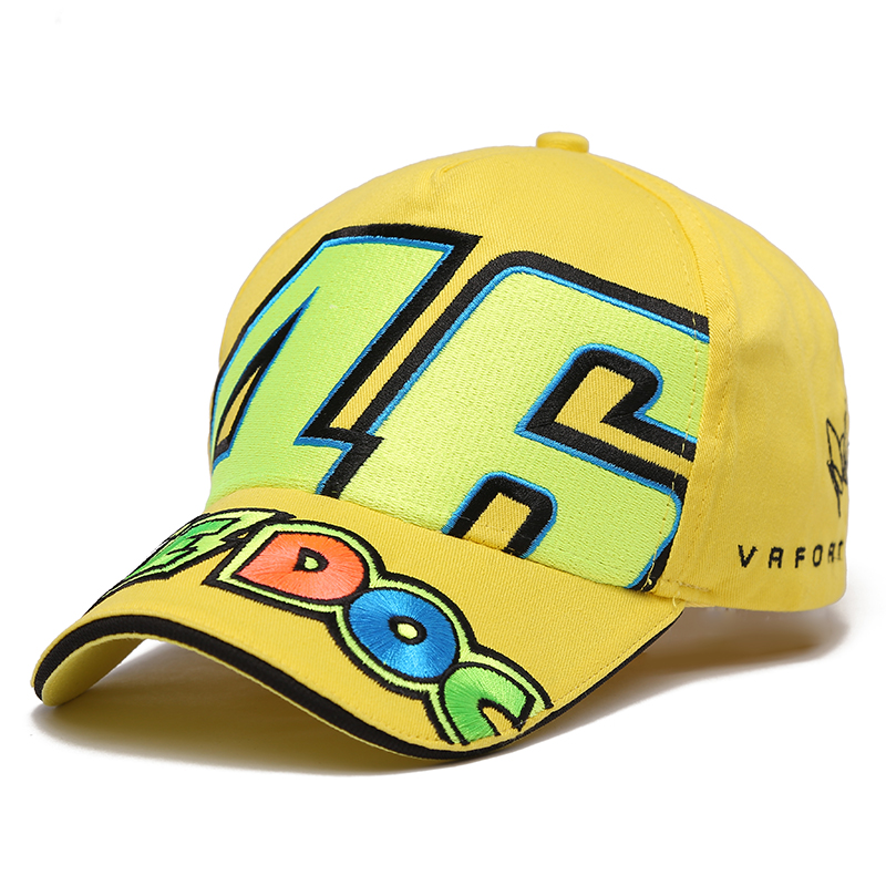 2017 new men women Cotton Sports caps Rossi VR 46 Caps MOTO Racing Motorcycle Baseball Car  Sun Hats Casquette 2016 new cotton sports rossi vr46 caps motogp racing motorcycle baseball cap car visors sun hats casquette