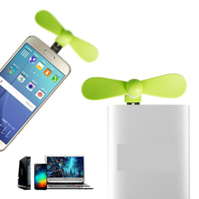 2 in 1 Mini Cool Portable PowerBank USB Fan Micro USB fans Gadget Tester For HTC LG OPPO android mobile phone 18650 Power bank