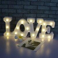 45 17 4cm LOVE Sign Night Lights For Home Valentines Day Decor Romantic DIY Wedding Decoration