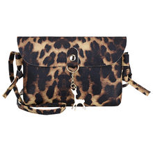 Ladies' Bags Leather Crossbody Leopard Print Fawn Pendant Shoulder Bag Small Square Bags Deer Messenger Coin Bag #YJP(China)