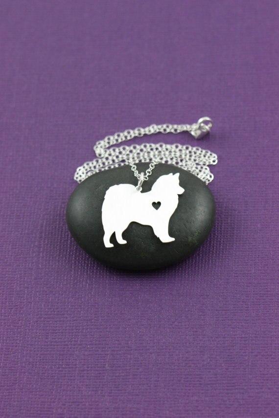 SALE 100pcs American Eskimo Necklace American Eskimo Necklace Custom Dog Jewelry silver Dog Pendant Pet Jewelry Husky for lovers