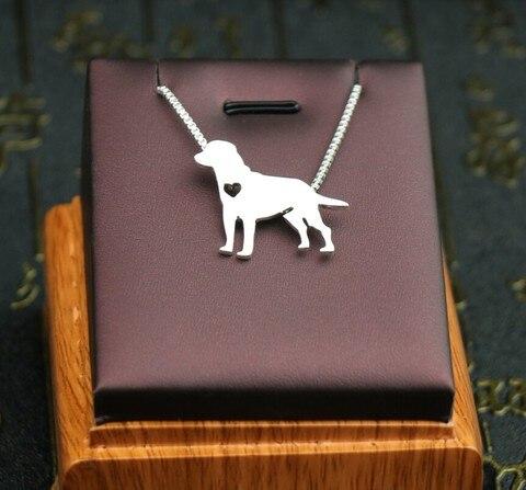 Купить ожерелье с лабрадором ретривером металлическая подвеска в виде