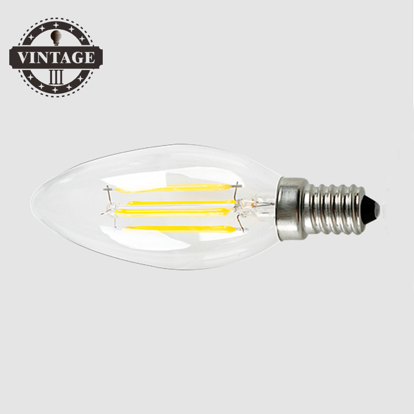 LightInBox 20pcs 2W 4W E14 220V 230V 240V LED led ceiling chandelier light bulb  Filament Bulb clear grass Edison light bulb 5pcs e27 led bulb 2w 4w 6w vintage cold white warm white edison lamp g45 led filament decorative bulb ac 220v 240v