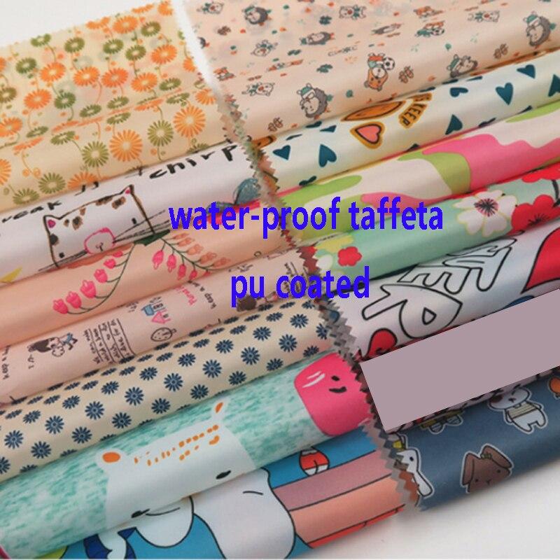 Водонепроницаемый полиэстер тафты ткань занавес палатки зонтик текстиль печать 100 см * 148 см