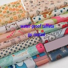 Têxtil impermeável do guarda-chuva da cortina da barraca da tela do tafetá do poliéster impresso 100cm * 148cm