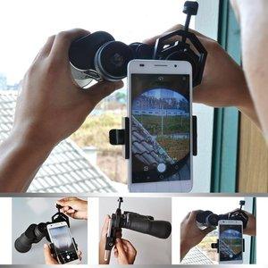 Image 5 - Uniwersalny mikroskop teleskopowy obiektyw aparatu telefon komórkowy fotografia stojak Adapter dla iPhone Samsung xiaomi dołącz uchwyt telefonu