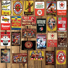 [WellCraft] Diamant Texaco Route66 Motor Öl Vintage Metall zeichen Bar Garage Retro Wand Poster Paitning Decor FG-253(China)