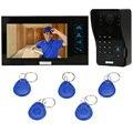 KKmoon 7 Дюймов Видео-Телефон Двери Интерком Дверной Звонок Сенсорная Кнопка Непромокаемые Ночного Видения Главная Безопасность Домофон Дверной Звонок Система Комплект