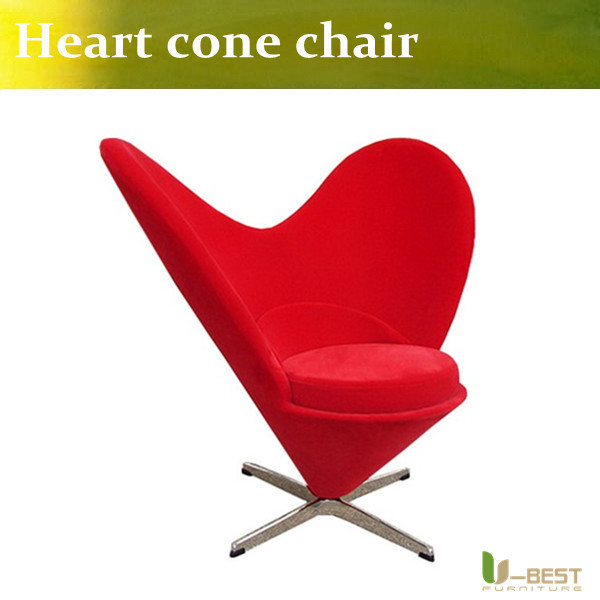 U-BEST Replic classic design,the Heart Cone chair by Ver ner Pan ton ,fabric leisure chair for living room