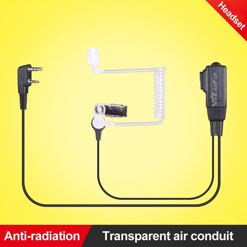 bilder für Air Acoustic Rohr PTT Hörer Transparent Headset Mikrofon für Kenwood Walkie Talkie Funkgeräte Baofeng UV5R 888 S K typ