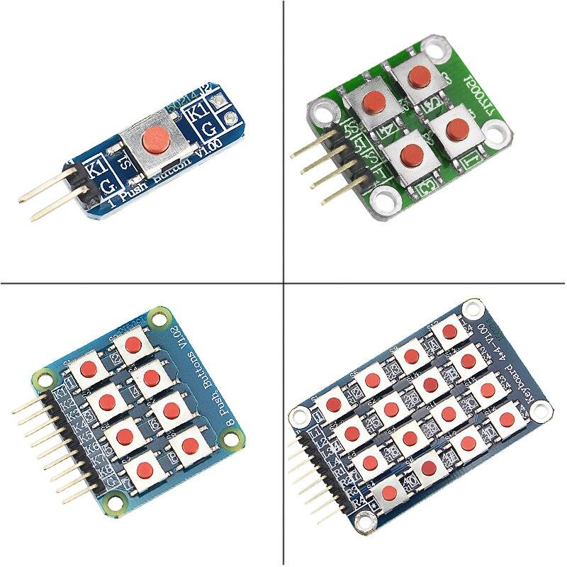 1 4 8 16 Push Button Keys Switch Keypad Kit Matrix Keyboard For Raspberry Pi 3 Model B+/3B For Orange Pi