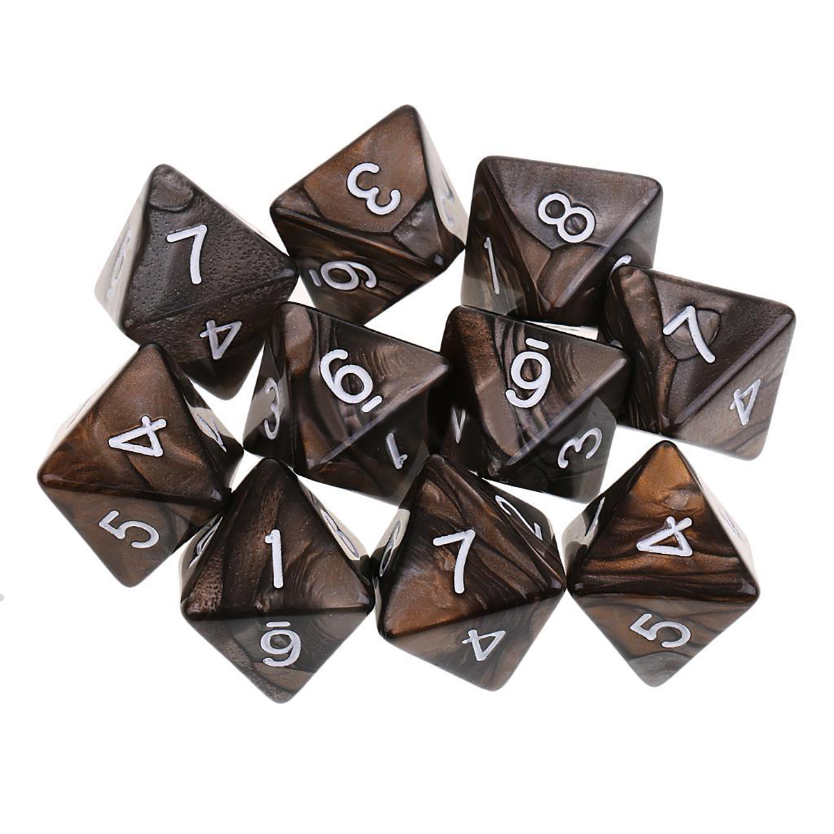 Mayitr 2019 New 10PCS/Set Colorful D8 For Dungeons Dragons Dice Set Acrylic Polyhedral Play Games 8 Sided Dice 7 Color Choose