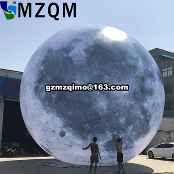 Free shipping 10ft 3m LED lighting inflatable moon balloon outdoor LED lighted inflatable moon sphere цена 2017