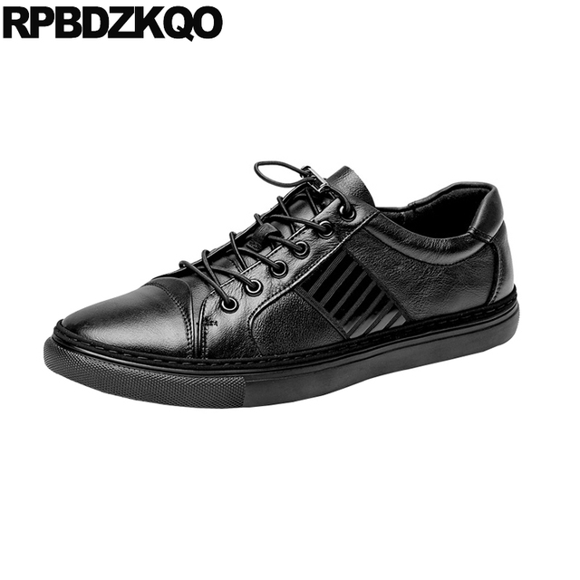 48749b8d5d7d Black Runway Spring Trainers Walking Men Shoes Brand Casual Genuine Leather  Deluxe High Quality Luxury Sneakers Skate Driving