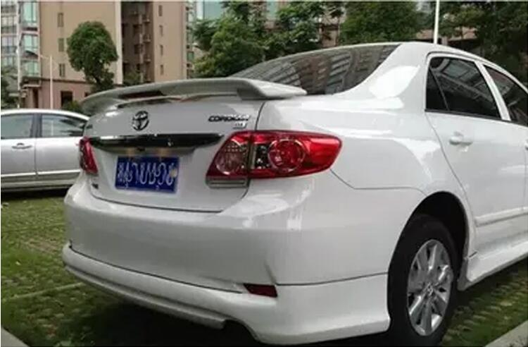High Quality /UnpaintedPainted Factory Style W/LED ABS Spoiler For Toyota Corolla 2003-2013 Sedan