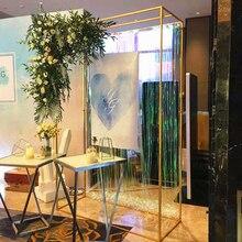 Творческий Железный ИС выдвижной Свадебный дом вечерние этап железная Арка фон садовая декоративная Цветочная подставка экран серой древесины
