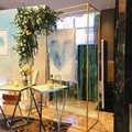 Créatif fer art gratuit rétractable mariage maison fête scène fer arc toile de fond décoratif fleur support écran accessoires décoration