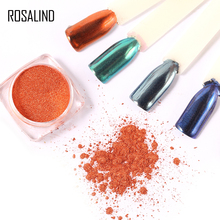 ROSALIND 1 Box Shell Nails Mirror Chrome Powder Nail Glitter 9 Colors